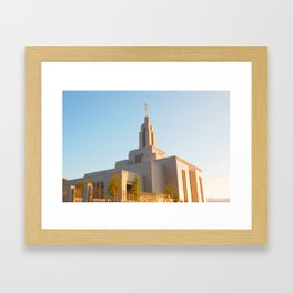 LDS Draper Utah Temple Framed Art Print