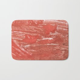Indian red colorful wash drawing Bath Mat
