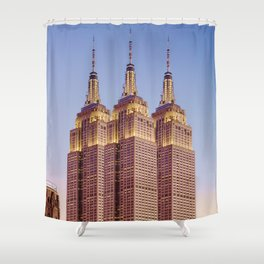 Empire State Building Surreal New York Skyline Shower Curtain
