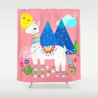 peru Shower Curtains featuring Peru - Pastels by MY  HOME