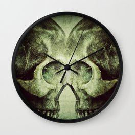 Skull to Skull Wall Clock