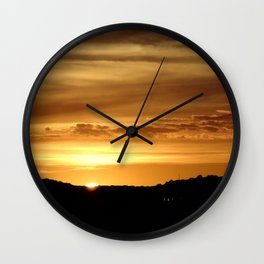 Coney Island sunset Wall Clock