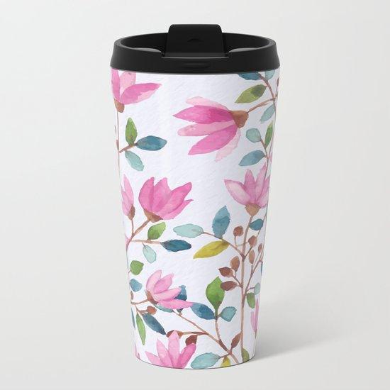 flowers 477 a Metal Travel Mug