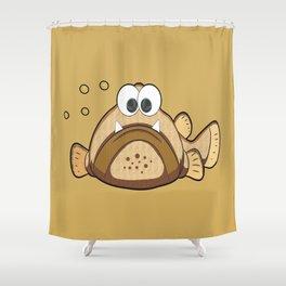 Fisch Opa Eddi Shower Curtain