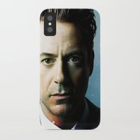 robert downey jr iPhone & iPod Cases featuring Robert Downey Jr 001 by TheTreasure