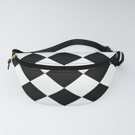 Diamond Black & White Fanny Pack