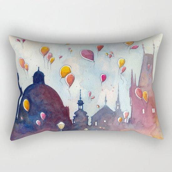 Balloons at Charles Bridge Rectangular Pillow