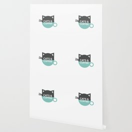Cats and coffee Wallpaper