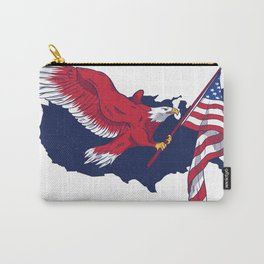 Patriotic American Eagle Carry-All Pouch