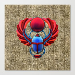 Colorful Egyptian Scarab Canvas Print