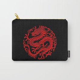 Traditional Red Chinese Dragon Circle Carry-All Pouch