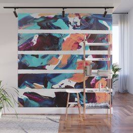 Abstract fusion of colors Wall Mural
