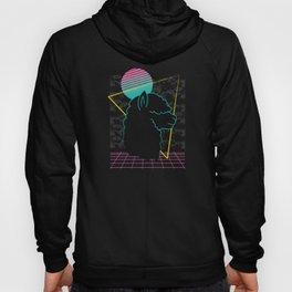 Vaporwave Alpaca Llama 90s 80s Gift Hoody