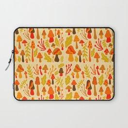Spring Mushroom Print Laptop Sleeve