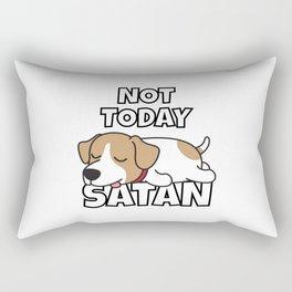 Not Today Satan Funny Jack Russell Rectangular Pillow