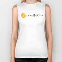 solar system Biker Tanks featuring The Solar System by Terry Fan