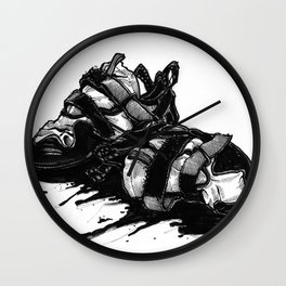 A DIFFERENT KETTLE OF FISH Wall Clock
