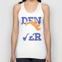 denver Tank Tops featuring Denver Orange by d.bjorn