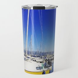 Beautiful day lake Geneva Switzerland Travel Mug