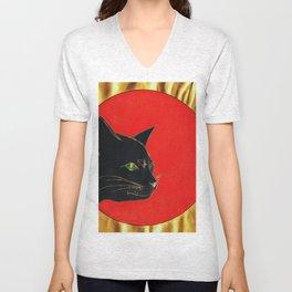 « Un bel gatto forte, dolce e vezzoso passeggia nel mio cervello come a casa sua. »  Unisex V-Neck