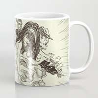 sale Mugs featuring On Sale by Enrico Guarnieri 'Ico-dY'
