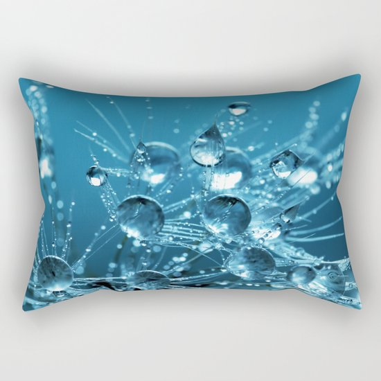 Sparkling drops on a Dandelion Rectangular Pillow
