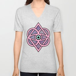 Evil Eye Witch Hamsa Occult Supernatural Eye of Horus Print Unisex V-Neck