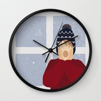 home alone Wall Clocks featuring Home Alone by Robert Scheribel