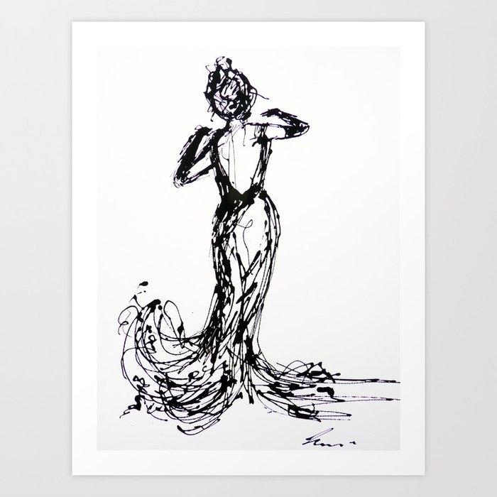 dancing alone Art Print