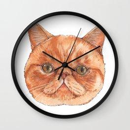 Betty aka The Snappy Cat- artist Ellie Hoult Wall Clock