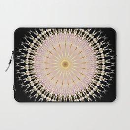 Blush Gold Black Mandala Laptop Sleeve