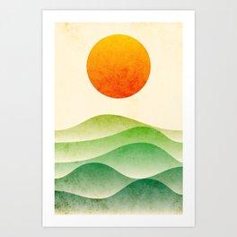 sunrise, spring Art Print