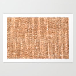 Brown canvas fabric for background, linen texture background Art Print
