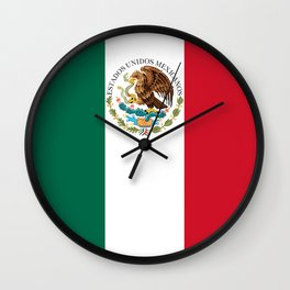Flag of Mexico - alt version with seal insert Wall Clock