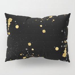 Golden Splats Pillow Sham