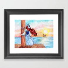 When Love Sails Away... Framed Art Print