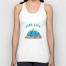 Live life Unisex Tank Top