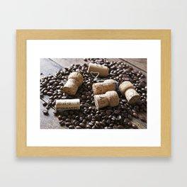 Cork & Coffee Framed Art Print