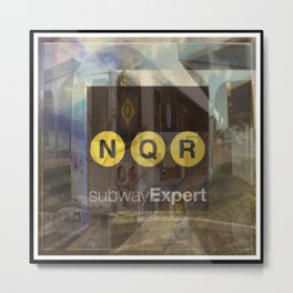 New York Subway Expert Metal Print