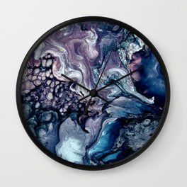 Obsession in blue Wall Clock