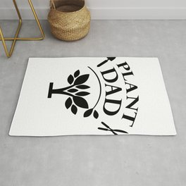 Plant Dad Funny Gardening Father's Day Gifts Rug