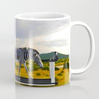 fitness Mugs featuring Fitness Zebra by Bemular