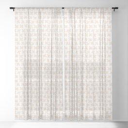 Geometric Crosses Sheer Curtain