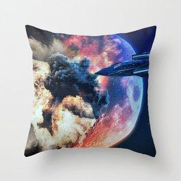 moon explosion Throw Pillow