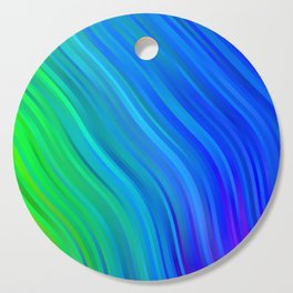 stripes wave pattern 1 stdv Cutting Board