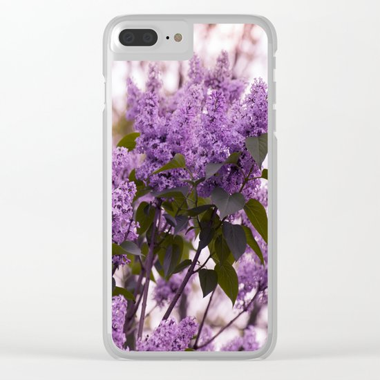 Purple lilacs Clear iPhone Case