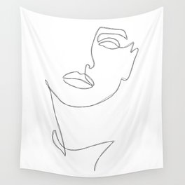 Triple Face Line Wall Tapestry