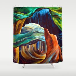 Emily Carr Forest in British Columbia Shower Curtain