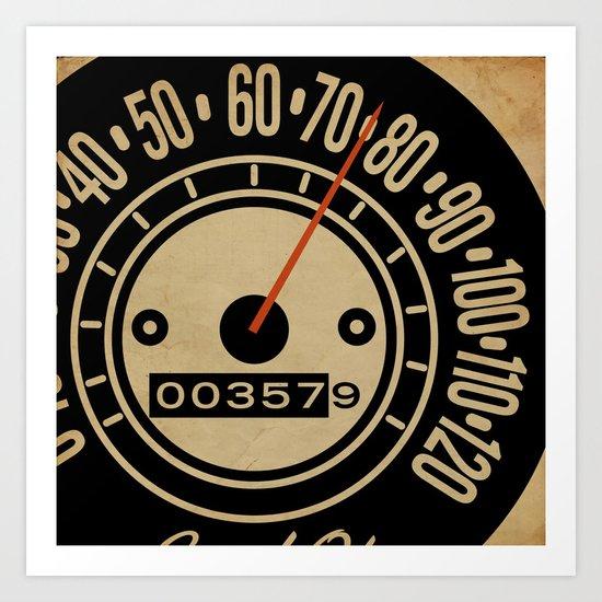 Speed-O! Art Print
