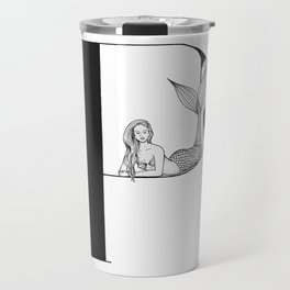 Mermaid Alphabet Series - P Travel Mug